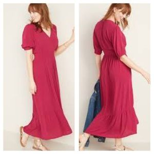 Old Navy | Waist-defined Wrap Front Dress
